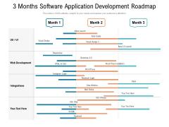 3 Months Software Application Development Roadmap Download