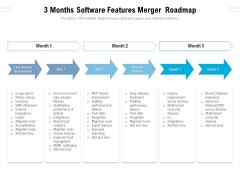 3 Months Software Features Merger Roadmap Topics