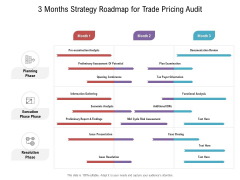 3 Months Strategy Roadmap For Trade Pricing Audit Sample