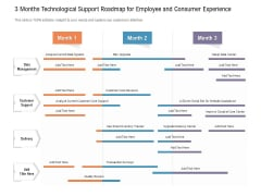 3 Months Technological Support Roadmap For Employee And Consumer Experience Themes