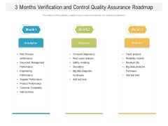 3 Months Verification And Control Quality Assurance Roadmap Themes
