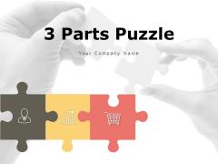 3 Parts Puzzle Circular Shape Split Segments Ppt PowerPoint Presentation Complete Deck