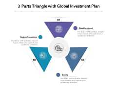 3 Parts Triangle With Global Investment Plan Ppt PowerPoint Presentation Icon Model PDF