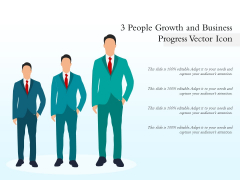 3 People Growth And Business Progress Vector Icon Ppt PowerPoint Presentation Infographic Template Templates PDF