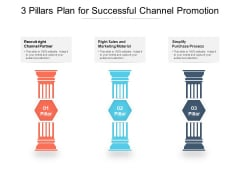 3 Pillars Plan For Successful Channel Promotion Ppt PowerPoint Presentation Infographics Clipart PDF