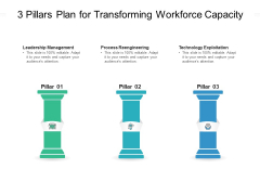 3 Pillars Plan For Transforming Workforce Capacity Ppt PowerPoint Presentation Outline Layout PDF