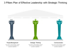 3 Pillars Plan Of Effective Leadership With Strategic Thinking Ppt PowerPoint Presentation Infographic Template Background Designs PDF