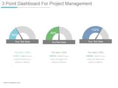 3 Point Dashboard For Project Management Ppt PowerPoint Presentation Icon