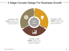 3 Stage Circular Design For Business Growth Ppt PowerPoint Presentation Inspiration