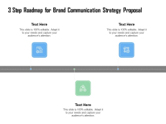 3 Step Roadmap For Brand Communication Strategy Proposal Ppt Model Tips PDF
