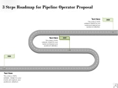 3 Steps Roadmap For Pipeline Operator Proposal Ppt PowerPoint Presentation Icon Format Ideas