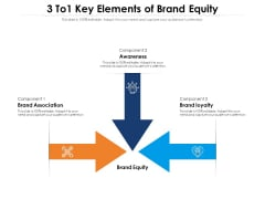 3 To1 Key Elements Of Brand Equity Ppt PowerPoint Presentation Example 2015 PDF