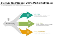 3 To1 Key Techniques Of Online Marketing Success Ppt PowerPoint Presentation Inspiration Outline PDF