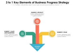 3 To 1 Key Elements Of Business Progress Strategy Ppt PowerPoint Presentation Professional Grid PDF