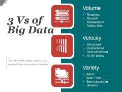 3 Vs Of Big Data Ppt PowerPoint Presentation Themes