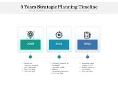 3 Years Strategic Planning Timeline Ppt PowerPoint Presentation Icon Good PDF