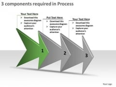3 Components Required In Process Flow Chart Free PowerPoint Templates