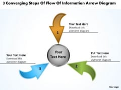 3 Converging Steps Of Flow Information Arrow Diagram Cycle Chart PowerPoint Templates