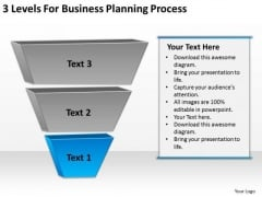 3 Levels For Business Planning Process PowerPoint Slides