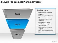 3 Levels For Business Planning Process PowerPoint Templates