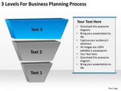 3 Levels For Business Planning Process Ppt Template Download PowerPoint Slides