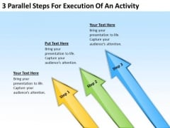 3 Parallel Steps For Execution Of An Activity Sample Real Estate Business Plan PowerPoint Slides