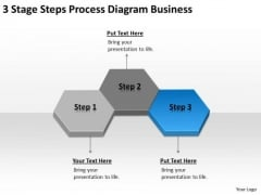 3 Stage Steps Process Diagram Business Ppt Plan Free PowerPoint Templates