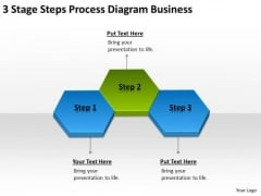 3 Stage Steps Process Diagram Business Ppt Plan PowerPoint Slides