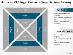 3 Stages Concentric Shapes Business Planning Ppt Help With PowerPoint Templates