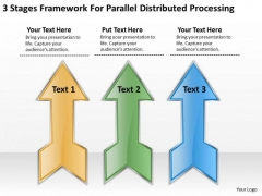 3 Stages Framework For Parallel Distributed Processing Score Business Plan PowerPoint Slides