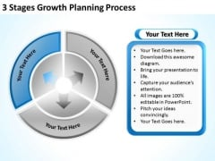 3 Stages Growth Planning Process Business Template PowerPoint Templates