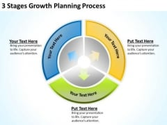3 Stages Growth Planning Process Detailed Business PowerPoint Templates