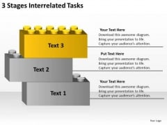 3 Stages Interrelated Tasks Ppt Business Plan PowerPoint Templates