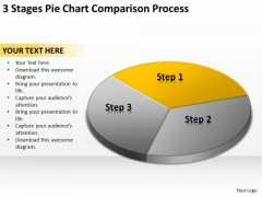 3 Stages Pie Chart Comparison Process Example Of Business Plans PowerPoint Slides