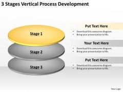 3 Stages Vertical Process Development Business Plan Services PowerPoint Templates
