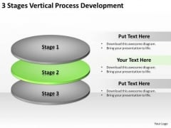 3 Stages Vertical Process Development Business Succession Planning PowerPoint Templates