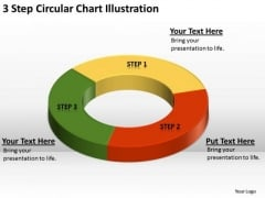 3 Step Circular Chart Illustration Business Plan Examples PowerPoint Slides