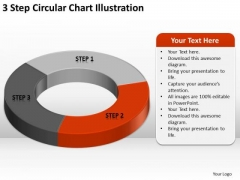3 Step Circular Chart Illustration How To Business Plan PowerPoint Templates
