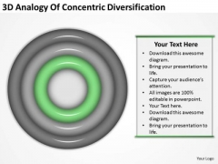 3d Analogy Of Concentric Diversification Business Planning PowerPoint Templates