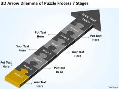 3d Arrow Dilemma Of Puzzle Process 7 Stages Small Business Plans PowerPoint Templates