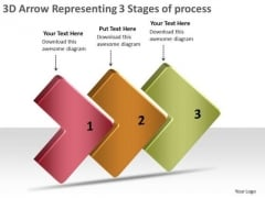 3d Arrow Representing Stages Of Process Flow Chart Program PowerPoint Templates
