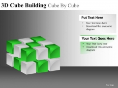 3d Blocks PowerPoint 2 Layers Ppt Slides