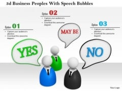 3d Business Peoples With Speech Bubbles