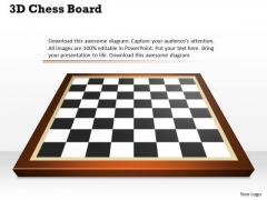 3d Chess Board PowerPoint Presentation Template