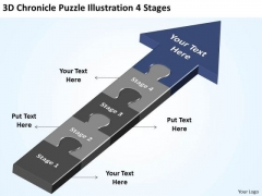3d Chronicle Puzzle Illustration 4 Stages Best Business Plan Template PowerPoint Templates