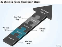 3d Chronicle Puzzle Illustration 4 Stages Making Business Plan PowerPoint Slides