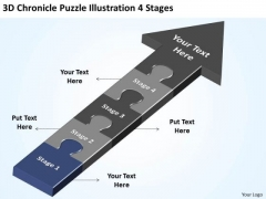 3d Chronicle Puzzle Illustration 4 Stages Online Business Plan Free PowerPoint Templates
