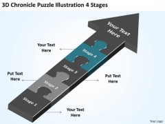 3d Chronicle Puzzle Illustration 4 Stages Ppt Sample Business Plan PowerPoint Templates