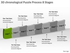 3d Chronological Puzzle Process 8 Stages Flow Chart Free PowerPoint Slides