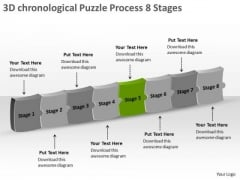 3d Chronological Puzzle Process 8 Stages How To Do Flow Chart PowerPoint Templates